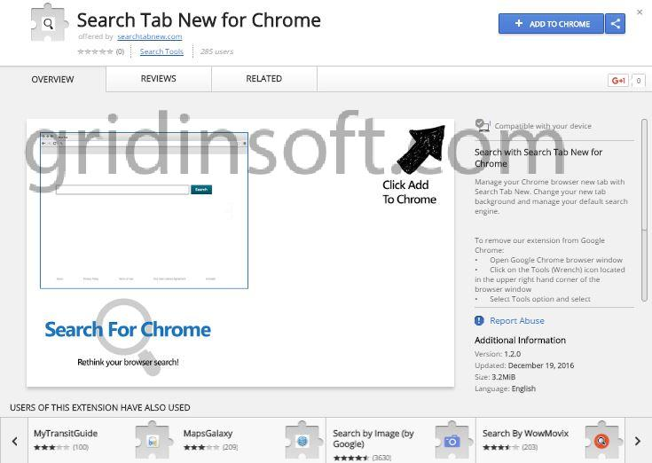 remove Search Tab New for Chrome