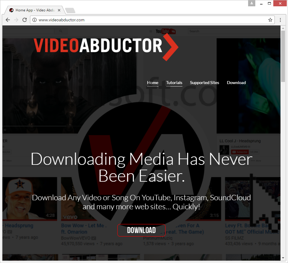 remove Video Abductor Video Abductor ads