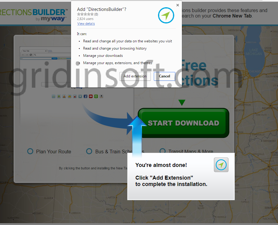 remove DirectionsBuilder DirectionsBuilder by MyWay