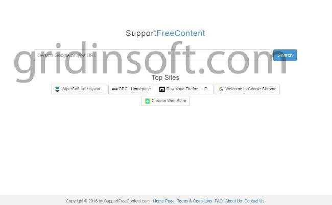 remove SupportFreeContent SupportFreeContent.com