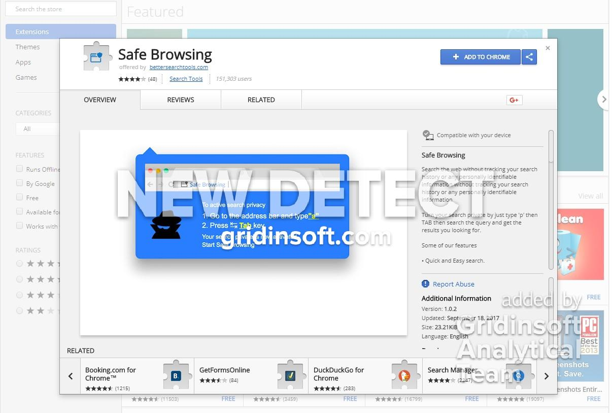 remove Safe Browsing