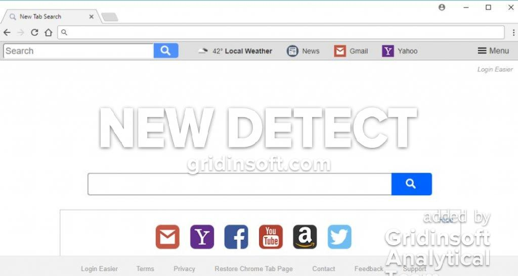 remove search.searchleasy.com. Login Easier New Tab
