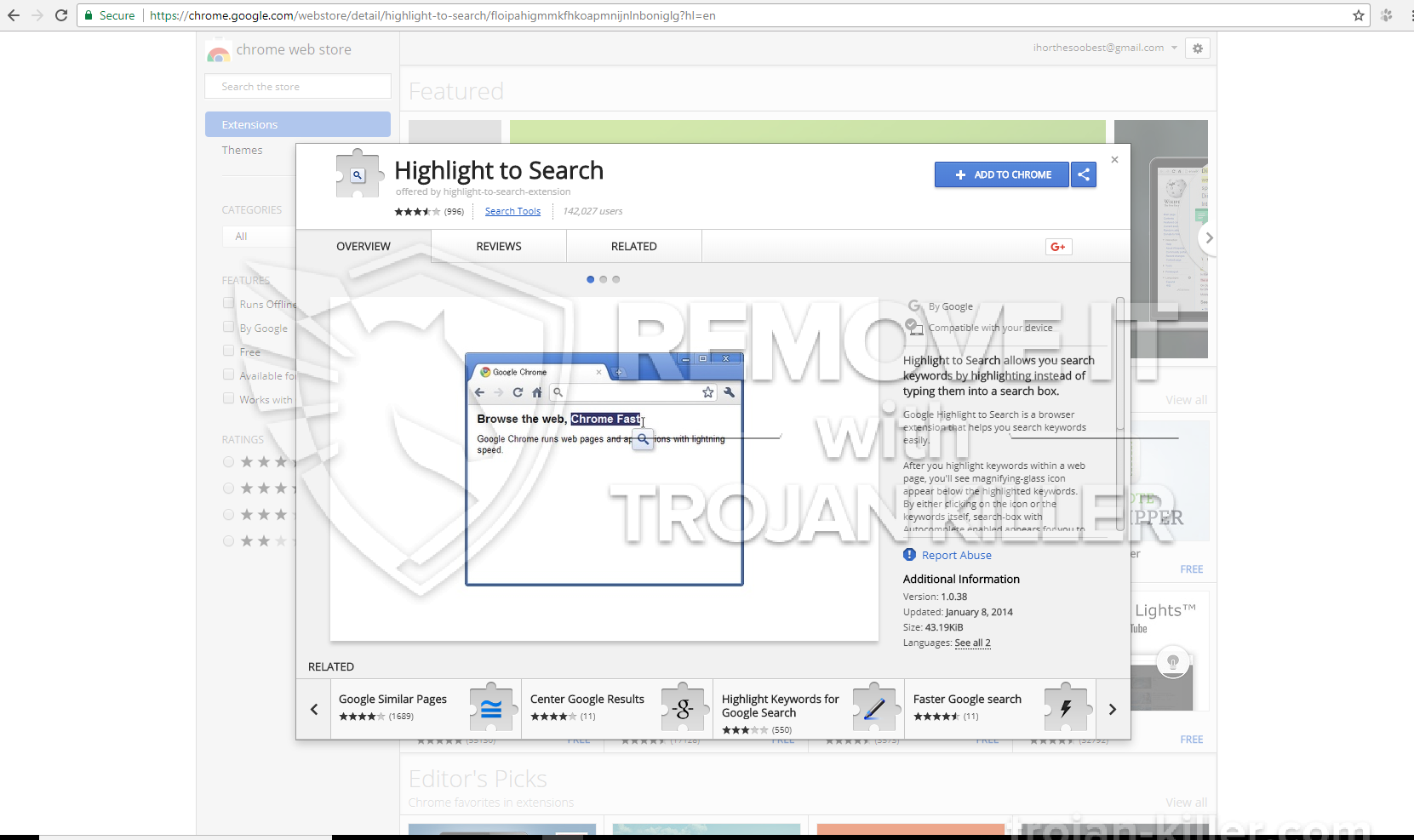 remove Highlight to Search