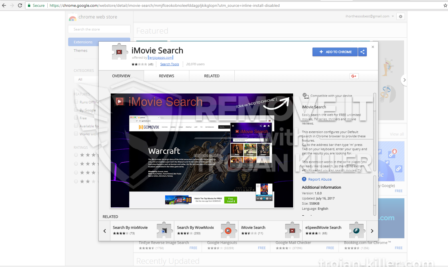 remove iMovie Search