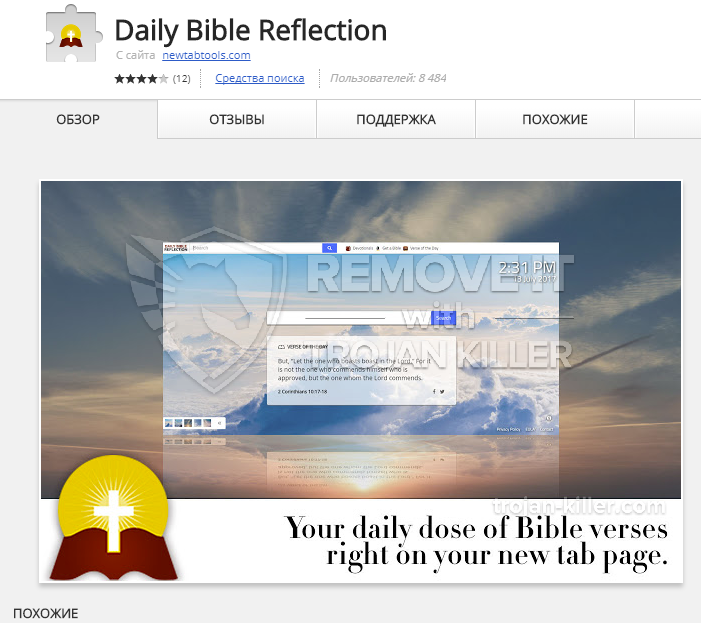 remove Daily Bible Reflection