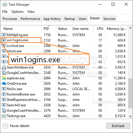remove win1ogins.exe