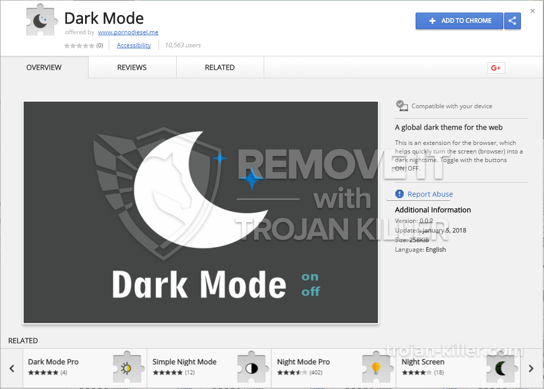 remove Dark Mode