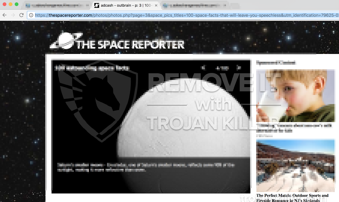 remove Thespacereporter.com