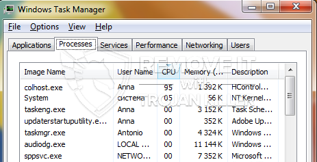 remove colhost.exe