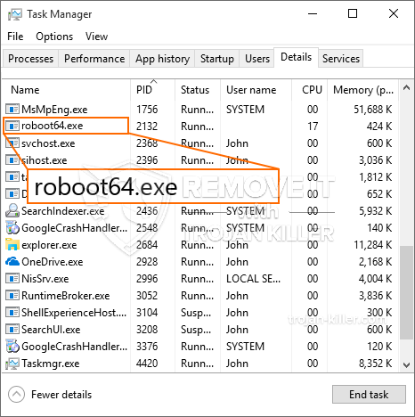 remove roboot64.exe by solvusoft
