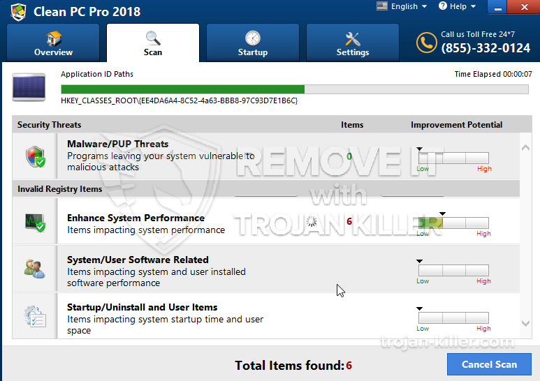 remove Clean PC Pro 2018